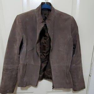 Genuine Leather Brown Zipper Jacket